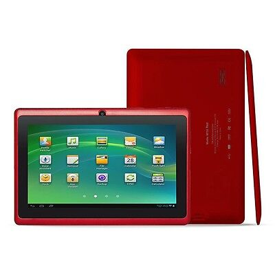 "7"" Android 4.2 Dual Cam 1.2Ghz Red WiFi Tablet - Bonus Bag, Headphones, Stylus"