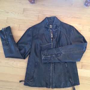 Black Motorcycle Jacket - Great for Spring!