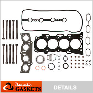 02-06 Toyota Rav4 Solara Camry Scion TC 2.4L Head Gasket Bolts Kit 2AZFE
