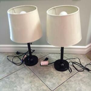 "2  - 19"" tall  Table lamps"