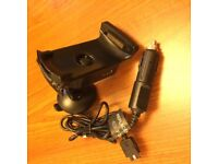 Garmin Zumo 550 in car mount built in hands free with power adapter