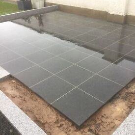 Black Granite Paving Flags for Sale - NOT RECONSTITUTED