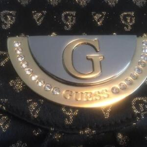 Black and Gold GUESS Clutch