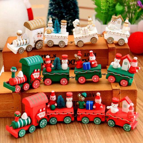 Mini Christmas Santa Train Tree Decor Kids Toy Gift for Christmas Festival Party
