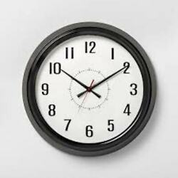 Hearth and Hand with Magnolia Vintage Wall Clock 20 inch Black White Finish NEW