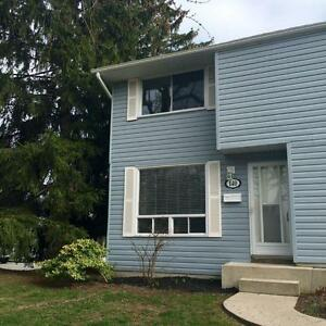 Spotless, bright and clean large 3 bedroom end unit townhome