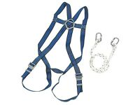 JSP fall restraint safety harness with 2m lanyard strap and 1 karabiner.