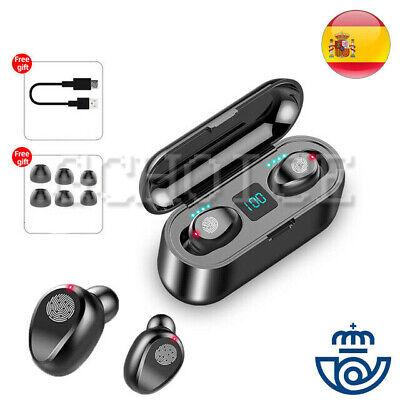 TWS Auriculares Estéreo 8D Bluetooth 5.0 Inalámbricos Llamada HD Impermeable F9