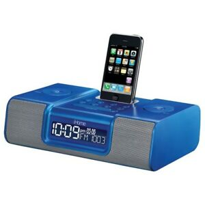 iHome iH9 Alarm Clock Speaker System with Dock for iPod -  (GTA)