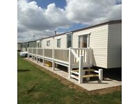 Beautiful 10berth caravan for holiday rent chapel st Leonard's (golden palms resort)