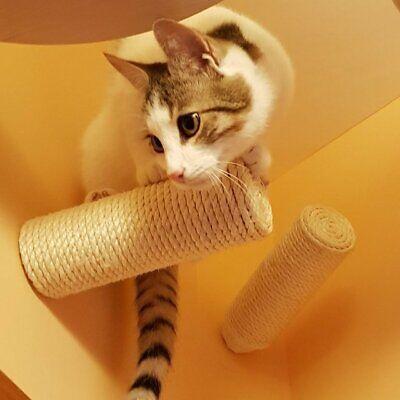 Sisal Stufe, Wand Kratzstamm für Katzen Catwalk Wandpark Treppe Leiter ()