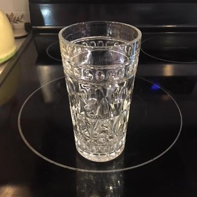 Vintage Indiana Glass Clear Park Lane 5 1/2 inch glasses