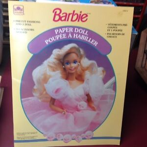 BARBIE PAPER DOLL PRE-CUT FASHIONS-PRICE REDUCED