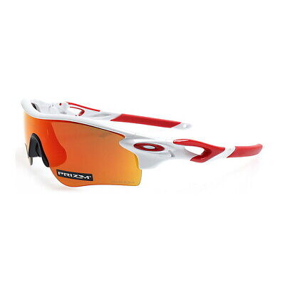 Oakley Radarlock Path Sunglasses OO9206-4638 Polished White W/ PRIZM Ruby Lens