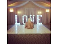 LED LOVE LETTERS for hire / Led MR&MRS Letters / Led Dance Floors + more / Essex & London