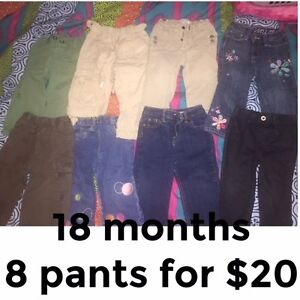 8 pants for girls 18 months