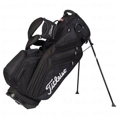 TITLEIST GOLF 14 WAY STAND BAG BLACK 6.4 LBS 11 POCKETS TB5SX14-0 NEW!! 17953