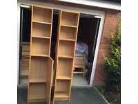 Two Ikea bookshelves for sale for £40
