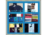 RALPH LAUREN, HUGO BOSS, FRED PERRY, STONE ISLAND, ARMANI, CALVIN KLEIN POLOS AND TEES
