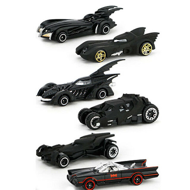 Купить Hot Wheels dark knight Nolan Christian Bale Joker arkham - 6pc Hot Wheels Cars Set DC Comics Batman Batmobile Die-Cast Cars Toys Kids Adult