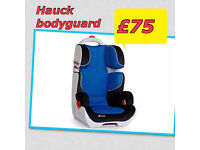 BRAND NEW IN BOX HAUCK BODYGUARD CAR SEAT SUITABLE FROM 3-12 YEARS HIGHBACK BOOSTER IN BLUE