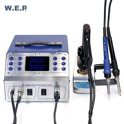 Wep 948d-ii High Frequency Rework Station Soldering Desoldering Gun Pump 3 In 1