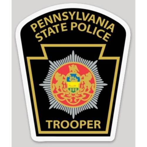 4 Inch Non-Reflective Pennsylvania State Police Trooper Logo Sticker Decal