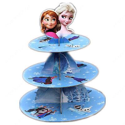 Frozen Elsa Cake Stand Tea Wedding Plates Kids Party Tableware Display Girls ()