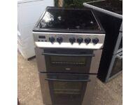 £195.25 Zanussi sls/Black ceramic electric cooker+50cm+3 months warranty for £105.25