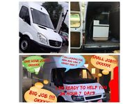 MAN&VAN STRONG MAN WITH BIG VAN READY FOR ALL JOBS ALL DISTANCE 24/7 READY TO GO CALL HANDYMAN TOO