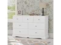BRAND NEW White Chest of Drawers