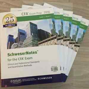 CFA PACK AUTHENTIC 2016 Levels 1/2/3  Schweser Kit