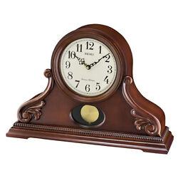 *BRAND NEW* Seiko Analog Display White Dial Wooden Shelf Wall Watch QXQ031BLH