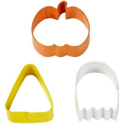 Wilton Halloween Cookie Cutters (Wilton Halloween Cookie Cutters pumpkin ghost  candy corn Party Supply)