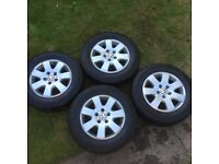 VW T5 transporter 16 inch alloy wheels
