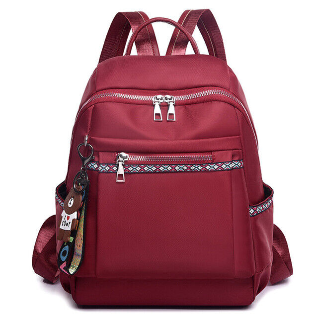 High Quality Nylon Women Zipper School Bag for Teenage Girls