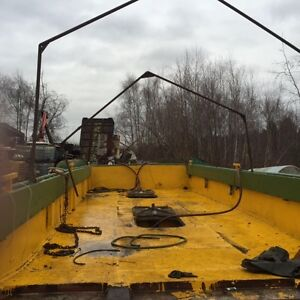 Truckable ramp barge, double hull, water tight bulk heads, 32 fe
