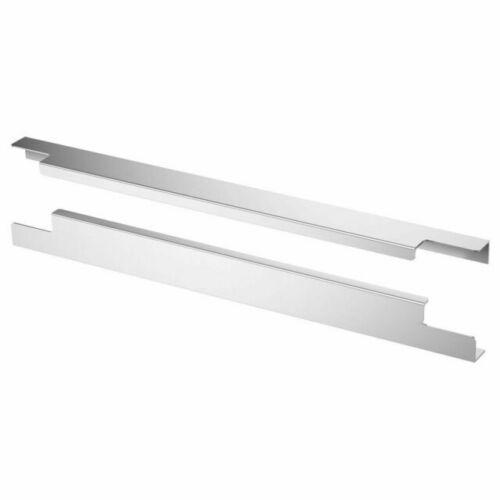 "IKEA BLANKETT 12"" handle, aluminum, 2 pack"