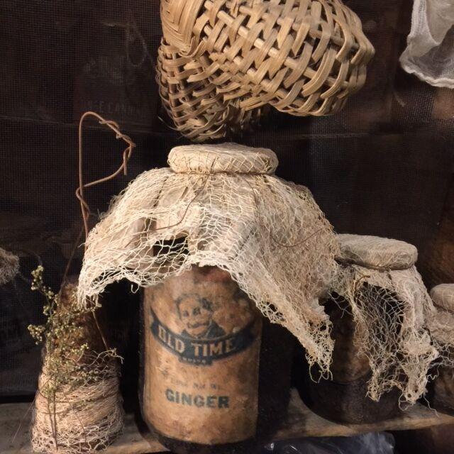 Primitive Pantry Jar Grubby SUGAR Homestead Cupboard Tuck Early Look Farmhouse