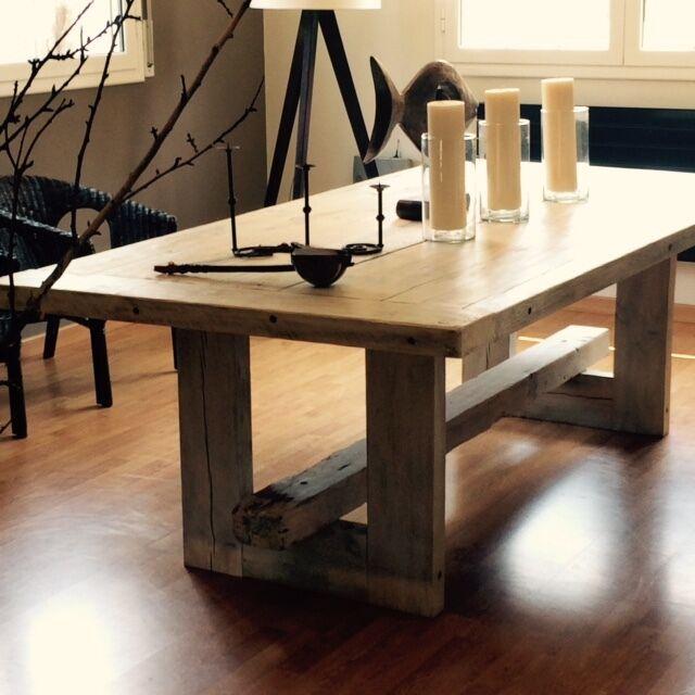 Mesa de comedor nica pieza artesanal moderna caldes de for Loquo muebles