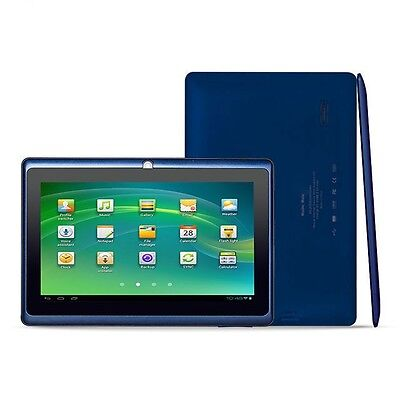 "7"" Android 4.2 Dual Cam 1.2Ghz WiFi Blue Tablet - Bonus Bag, Headphones, Stylus"