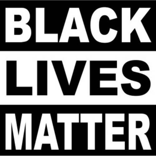 Black Lives Matter 3 Inch Square Vinyl Bumper Sticker Decal