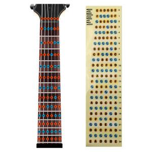 Guitar Fretboard Note Decals Fingerboard Frets Map Sticker for Beginner