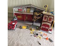 Imaginext fire station and engine, batman jet, bike £20 - **Collection from Romford, RM1**