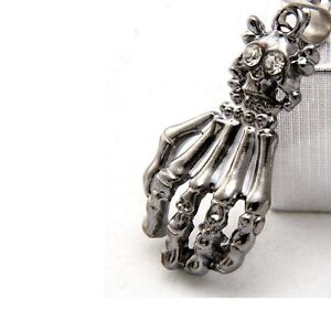 Skeleton Hand with Cross Bones + Snake Chain