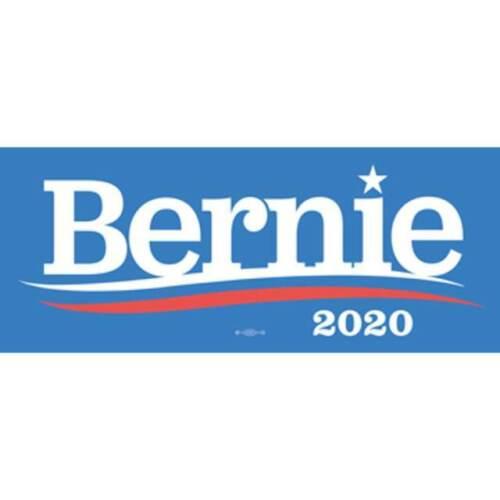 Bernie Sanders 2020 For President Blue Bumper Sticker Decal