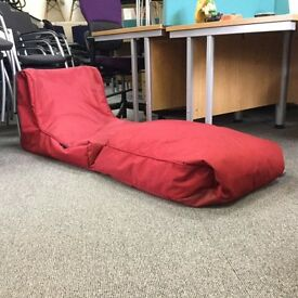 Ambient lounge bean bag Red