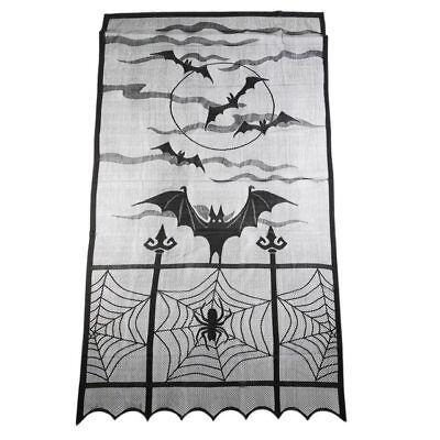 Fledermaus Spinnennetz Spitze Kamin Mantel Halloween Schal Deckel Vorhänge Deko