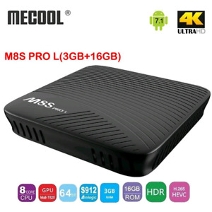 M8S PRO L 3GB RAM TV ANDROID BOX W/ 2 MN VADERS IPTV