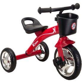 Kiddo red three wheeler smart design kids trike